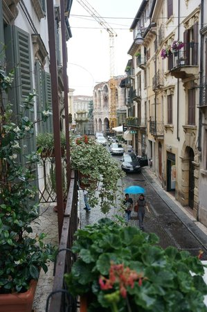 Palazzo Gelmi B & B: view from our window