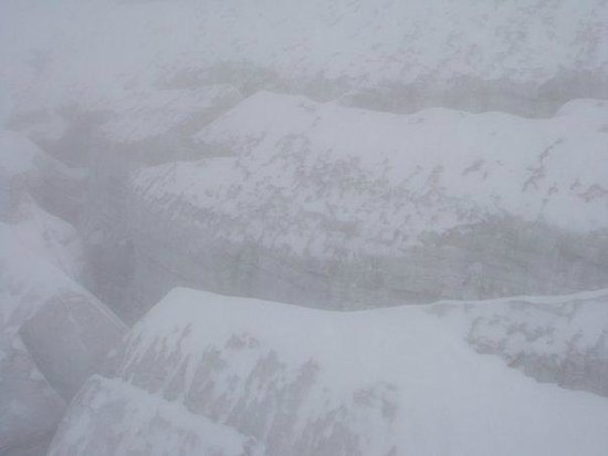 Mount Titlis: snowing at the top