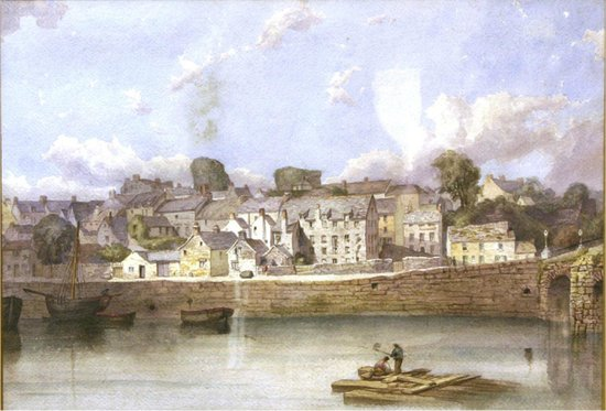 Carmarthenshire County Museum: Carmarthen Quay about 1840