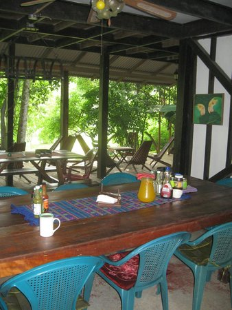 Parrot Nest Lodge: Dining area and common area