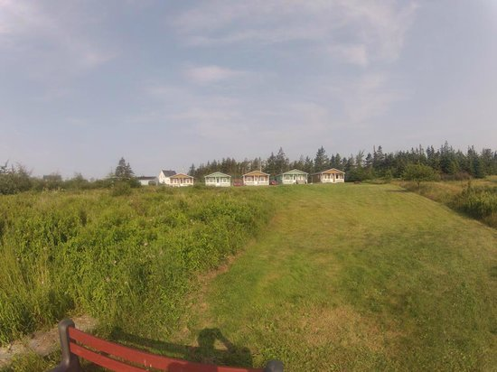 Seaside Haven Cottages : View of the cottages from the beach.