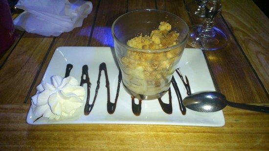 Le Nautilus : Pommes confites (plus trop confites...) au caramel salée (plus trop caramel...)
