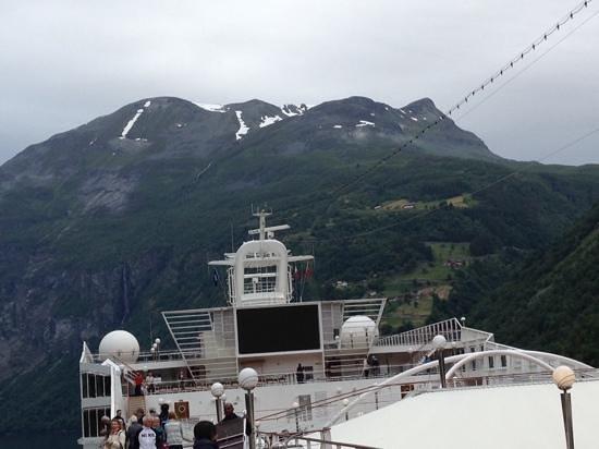 Geiranger Fjord : 船より