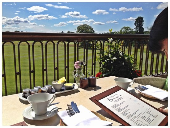 Hurworth-on-Tees, UK: Gorgeous views from the Brasserie balcony.