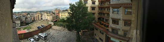 Hotel Tibet International: View from the room, looking into the courtyard.