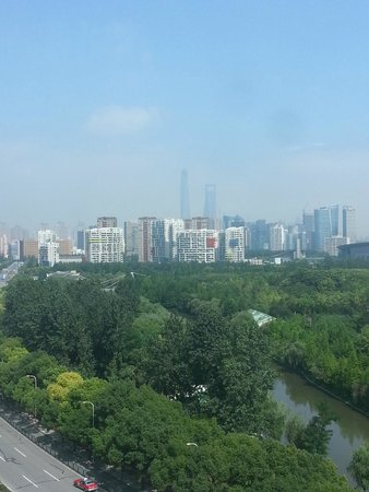 Dorsett Shanghai : Vista hacia Pu Dong