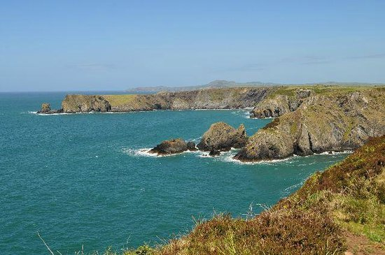 Old Cartlett House Bed and Breakfast: The view from the coastal path at Trefin