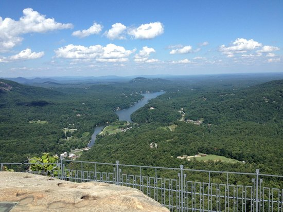 Chimney Rock State Park: View from top of Chimney Rock.