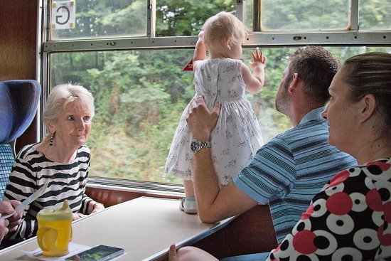 The Shakespeare Express: First time on a train