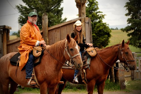 The Diamond P Ranch: Gramps and Emma heading out