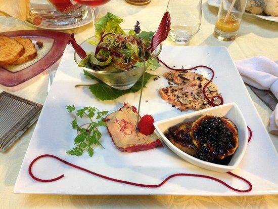 Assiette de foie gras en entr menu 50 foto van la - Restaurant la table d emilie marseillan ...