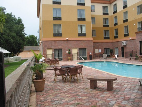 Tampa Stadium Airport Hotel: pool area - ample chairs and lounges, etc.