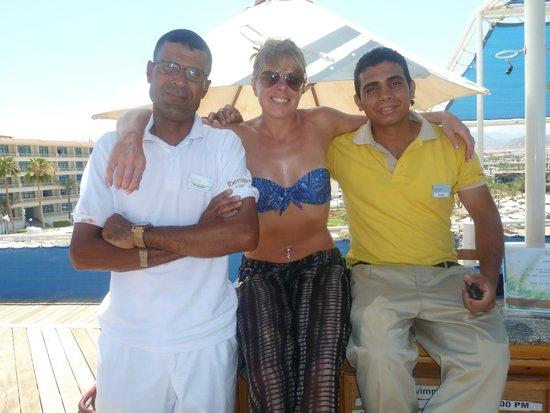 Lido Sharm Hotel: Makram, Samuel and I