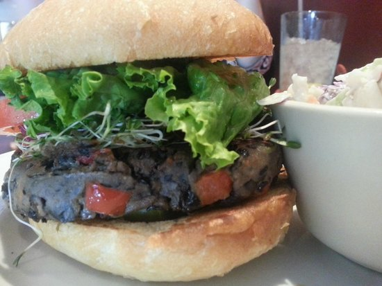 Ethos Vegan Kitchen: Bean burger is awesome