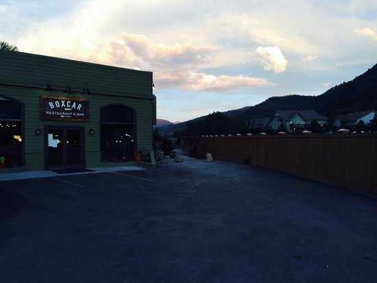 Boxcar Restaurant and Bar: Boxcar by sunset