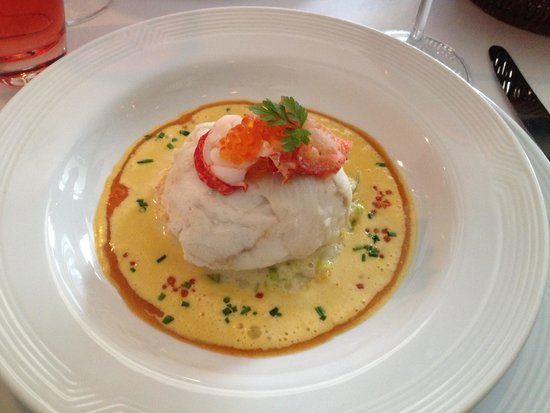Brasserie Degas: Ballotine of Turbot with lobster and saffron sauce