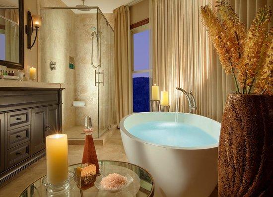 rustic inn creekside resort and spa at jackson hole one bedroom spa suite bathroom