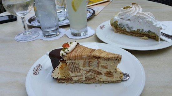 Cafe Reichard: Baumkuchen and Stachelbeer Torte