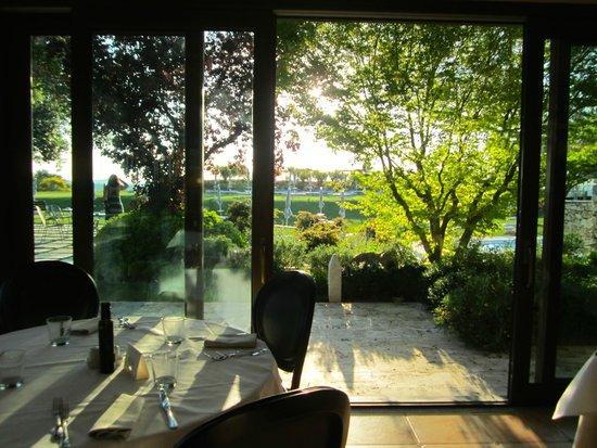San Giovanni Terme Rapolano : ristorante Hotel vista sulla piscina