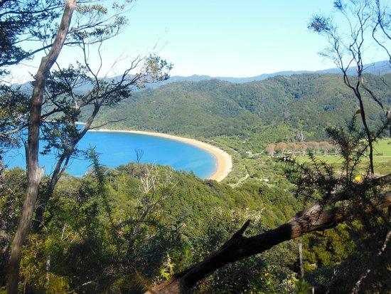 Abel Tasman Coast Track: Wiew over the bay in Abel Tasman National Park