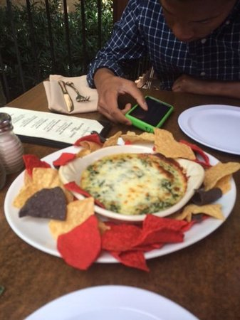 Golden Plough Inn at Peddler's Village: Amazing crab spinach dip