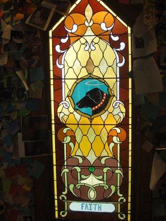 Dog Mountain: Inside the chapel.