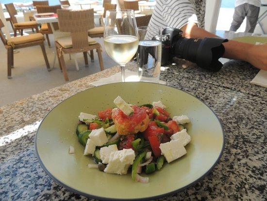 Ochre Restaurant: Greek salad with barley rusk