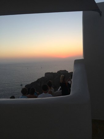 Art Maisons Luxury Santorini Hotels Aspaki & Oia Castle: Sunset view from our balcony. Gorgeous!
