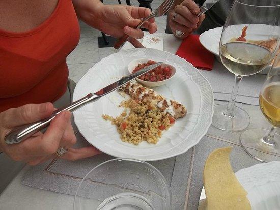 Pera Palace Hotel, Jumeirah : Sish Kebab van kip met yoghurt en tomatencarpaccio