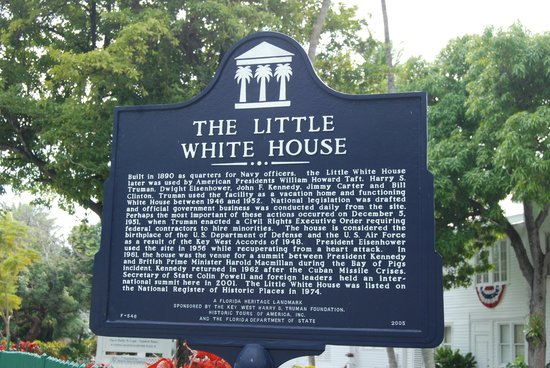 Harry S. Truman Little White House: Entrance sign