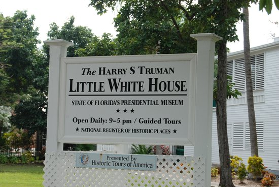 Harry S. Truman Little White House: second entrance sign