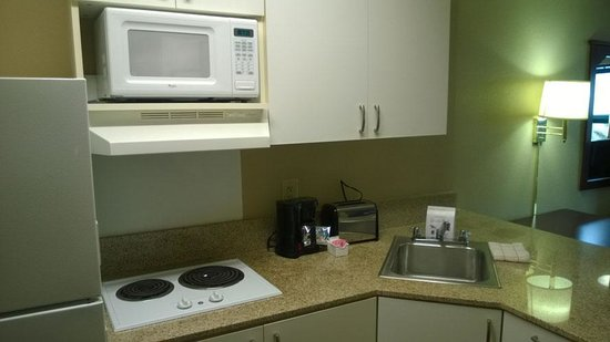 Extended Stay America - Orange County - John Wayne Airport: Utensiles were included but no dishwashing detergent.