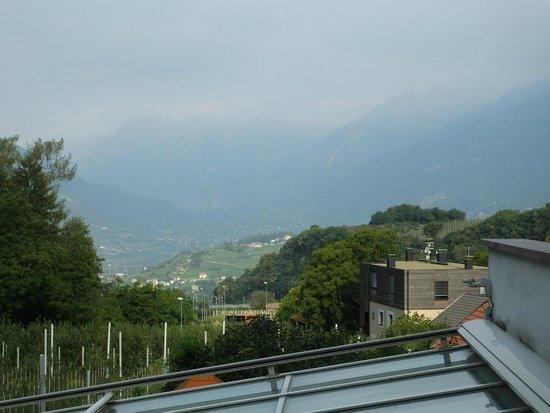 Eremita-Einsiedler: panorama dalla terrazza della camera