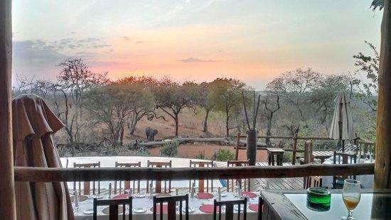 Tarangire Treetops : uitzicht main lodge