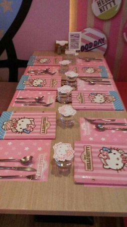 Nice Table Set Up Picture Of Hello Kitty Sweets Taipei