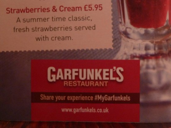 Garfunkels Oxford Street London: resto