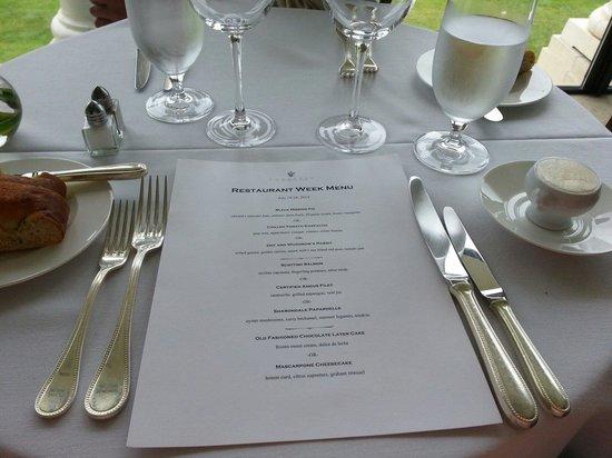 Fossett's: Restaurant Week at Fosset's