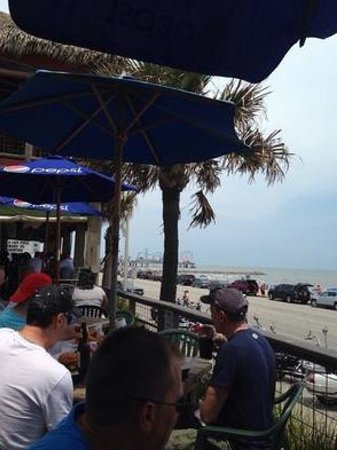 The Spot: View of beach from patio