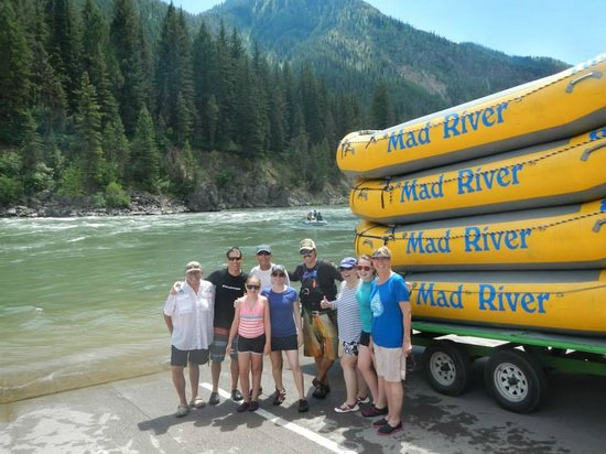 Mad River Boat Trips: All of us with Nate our guide