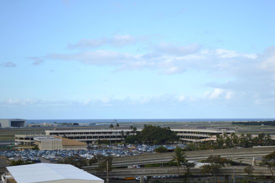 Best Western The Plaza Hotel: View of ocean on other side of airport