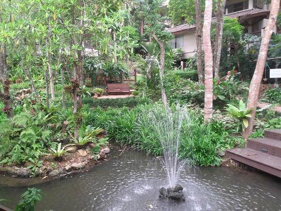 Pakasai Resort: המזרקה במרכז האגם