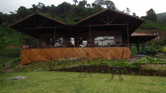 Boquete Tree Trek Mountain Resort: Vista Frontal de uestro Restaurante Rio Crystal
