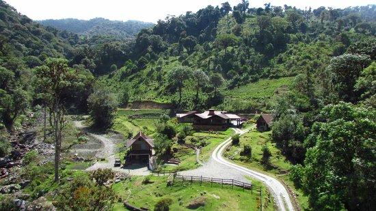 Boquete Tree Trek Mountain Resort: Vista total desde uno de los cables de Canopy