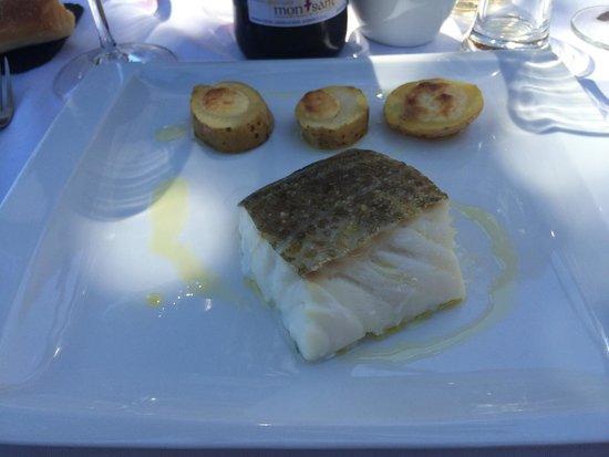 La Palmera de la Llosa: Bacalao al horno con patatas gratinadas y all i oli