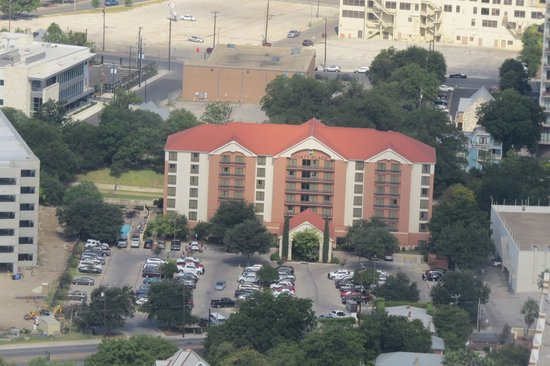 Hyatt Place San Antonio/Riverwalk: The Hyatt from Tower of Americas
