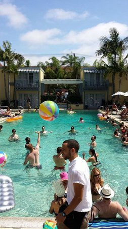 The Lafayette Hotel, Swim Club & Bungalows: Sunday pool party