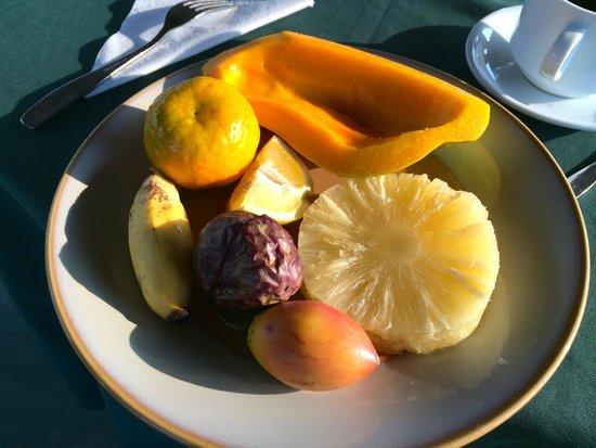 Hotel Safari Gate: Fruit plate for breakfast.