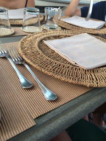 Osteria di Montegonzi: Posto tavola esterno