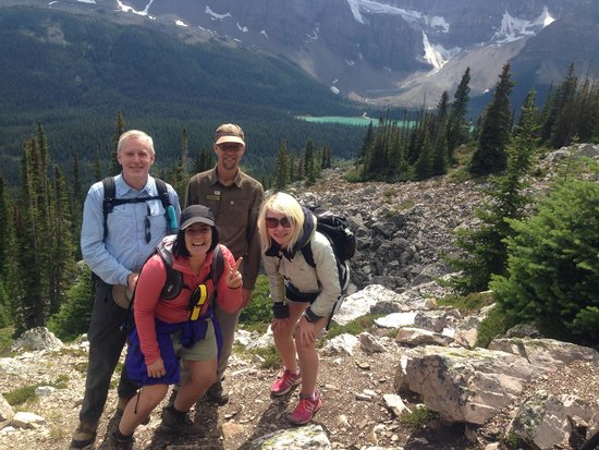Great Divide Day Hikes: Joel, Bill, Sophie & I on our hike to Lake Helen