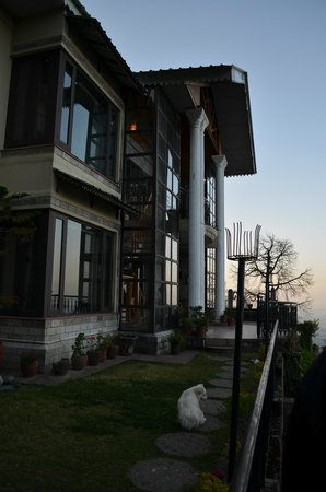 Horizon Villa - South: The picturesque hotel front - overlooking the Kangra Valley